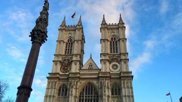 Abadía de Westminster en Londres Inglaterra 4k video