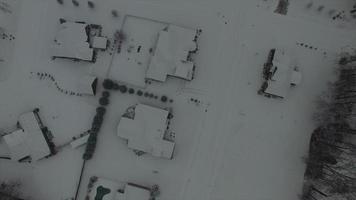 imágenes aéreas hd gratis del barrio suburbano nevado