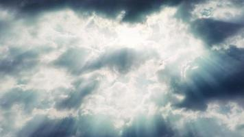 sunray clouds 4k living background