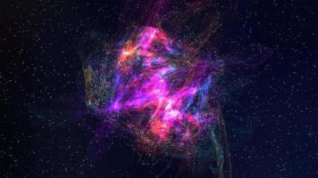 fundo de movimento 4k de nebulosa de algodão doce