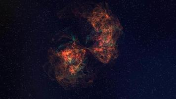 sfondo di movimento della nebulosa 4K in espansione