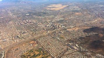 Aerial Flyover of Tucson Arizona Seen from Plane 4K