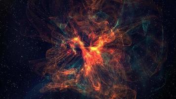 sfondo di movimento della nebulosa dorata 4K