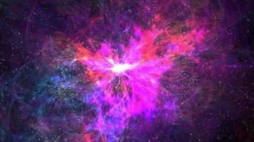 sfondo di movimento di nebulosa magica 4k
