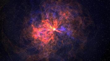 Orange Fog Nebula 4K Motion Background video