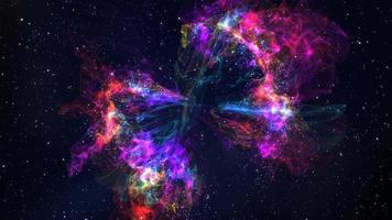 Priorità bassa di movimento della nebulosa arcobaleno 4K