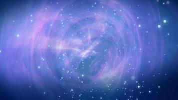 bucle de fondo de movimiento de espiral galáctica 4k video
