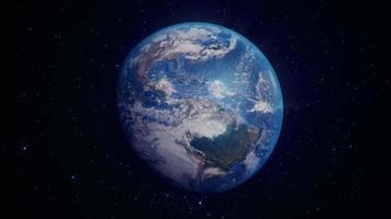 realistische Erde dreht sich im Weltraum