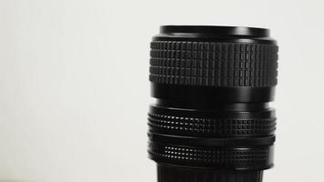 lente de la cámara girando