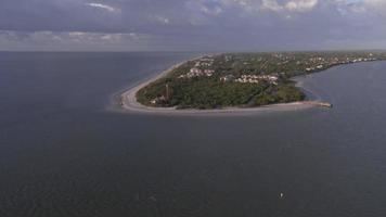 Aerial of Sanibel Island Beach