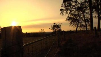 puesta de sol en el interior