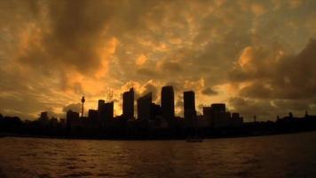 lapso de tiempo del atardecer en sydney australia