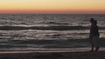 una mujer encuentra una concha en la playa