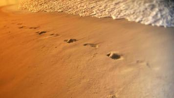 Waves and footprints