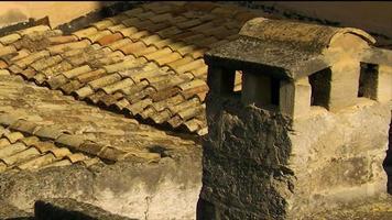 Dach in Matera Italien