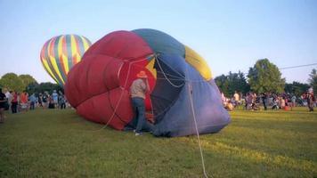 globo de aire caliente inflado