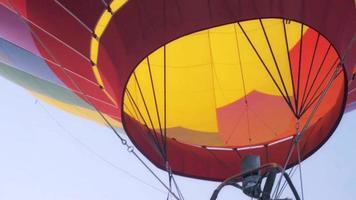 Hot air balloon burner being fired