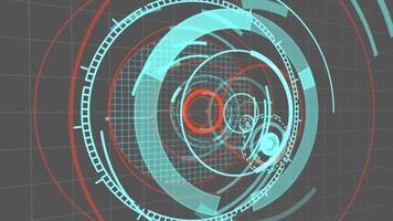 Fondo de movimiento de interfaz de hud circular 4k