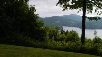 Lake view from a hill
