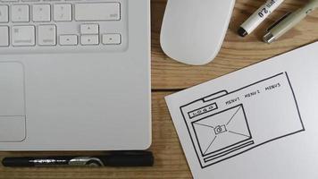 bosquejo del diseñador web video