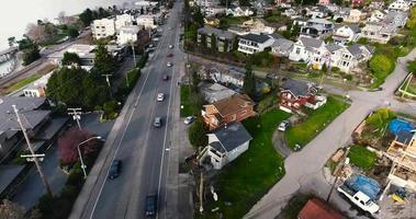 imágenes aéreas sobre un gran vecindario