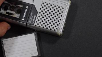 mini sound recorder close up