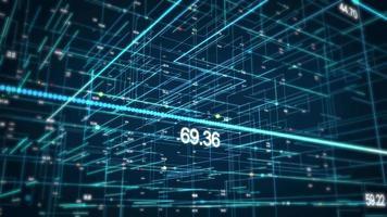 digitales 3D-Datenraster video