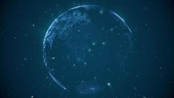 terra digital pixelizada brilhante