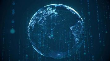 Digital Pixelated Earth video