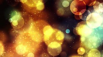 Golden Bubbles 4K Motion Background video