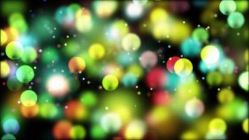 Colorful Twinkling Bubbles 4K Motion Background video