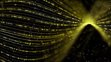 Yellow Ripple of Light 4K Motion Background video