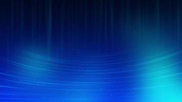 kleine Teilchen, die auf gekrümmtem Windkanal mit blauem Hintergrund schwimmen video