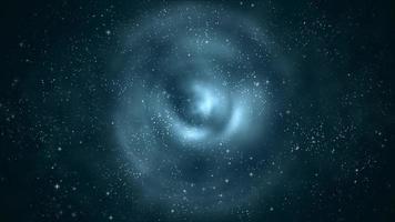 pequeñas estrellas que se desvanecen sobre fondo oscuro con ondas de agua