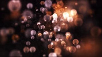burbujas suaves blancas flotando sobre fondo azul fondo cálido y oscuro video