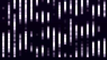 Gradientes de fila púrpura subiendo y bajando sobre fondo negro