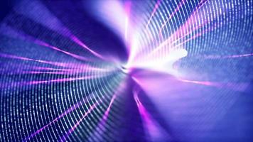 delgada línea espiral girando sobre fondo púrpura con bengalas
