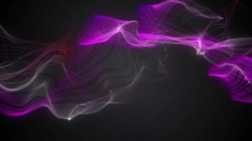 fumaça roxa movendo-se para a esquerda para a cena em fundo escuro video
