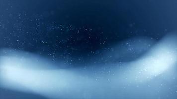 pequenas partículas suaves e ondas brancas ondulando em fundo escuro de 4K video