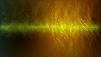 sottili linee dorate 4k che formano un'elica sullo sfondo dello spazio profondo