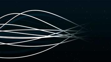 weiße Linien, die Wellen bilden, die sich auf 4k Hintergrund von links nach rechts bewegen video