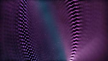 lila 4k gepunkteter Ring, der sich auf Weltraumhintergrund dreht video