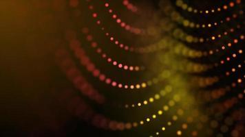loop di maglia circolare 4K filatura e dissolvenza su sfondo scuro