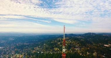 Aerial Drone Shot of Oregon Radio Tower in 4K