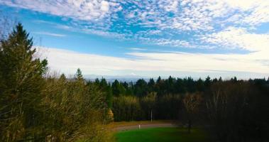 tiro aéreo do drone do capô de Portland Oregon Mnt em 4k video