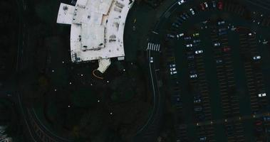 Foto aérea do zoológico oregon e estacionamento em 4k video