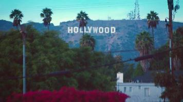 foto estática da placa de hollywood de los angeles em 4k
