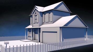 planta digital da casa em 4k video