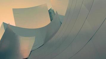 Gros plan du lent panoramique tourné à gauche de la salle de concert de Walt Disney à Los Angeles en 4k. video