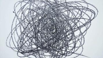 crayón, garabatos, stop motion